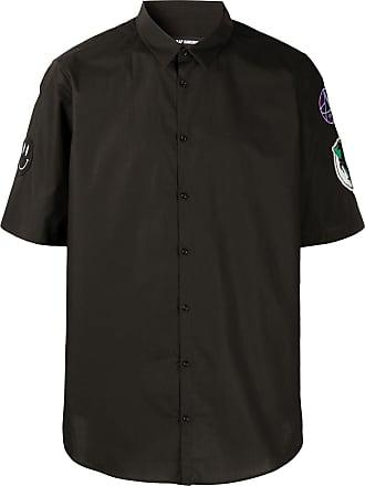 Raf Simons Camisa mangas curtas com patches - Preto