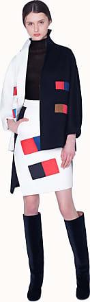Akris Bi-color Cashmere Double Face Coat