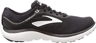 Brooks Womens PureFlow 7 Running Shoes, Multicolour (Black/White 048), 4.5 UK