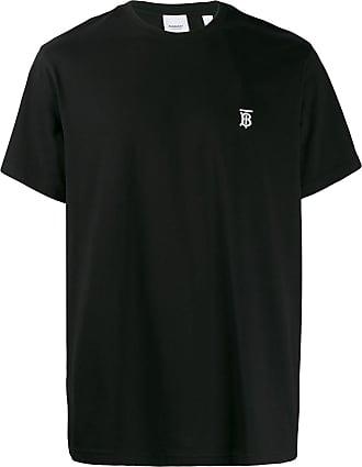 Burberry Camiseta com logo bordado - Preto