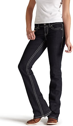 Ariat Womens R.E.A.L Mid Rise Original Boot Cut Jeans in Eclipse, Size 30 X-Long, by Ariat