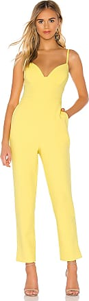 Bcbgmaxazria Plunging Cut Out Jumpsuit in Yellow