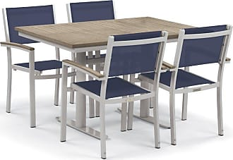 Oxford Garden Outdoor Oxford Garden Travira Steel 5 Piece Patio Dining Set with Wood Like Table Top - 5348