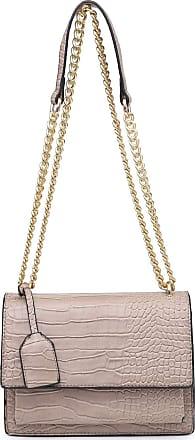 Craze London New Women Envelop Design Multi pocket Shoulder Bag Ladies Long Shoulder Strap Bags (Croc-Grey)