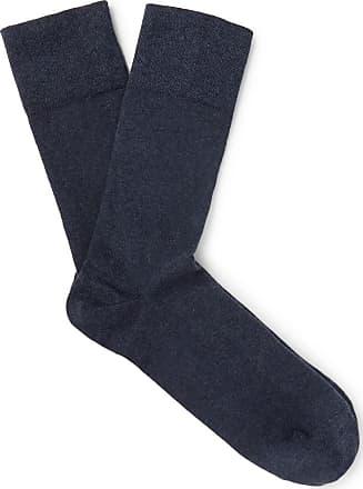 Falke Sensitive London Mélange Stretch Cotton-blend Socks - Navy