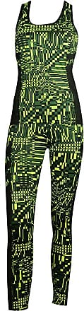MySocks Womens Sportswear Leggings and Top matching Set Green Square