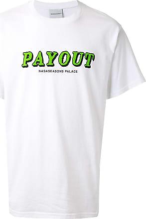 Nasaseasons Camisa mangas curtas Payout de algodão - Branco