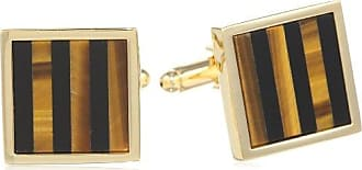 Stacy Adams Mens Round Cuff Links with Mother of Pearl and Enamel Inlay