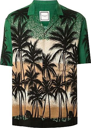 Wooyoungmi Camisa mangas curtas com estampa tropical - Verde