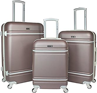 World Traveler American Collection 3-Piece Spinner Luggage-Rose Gold White