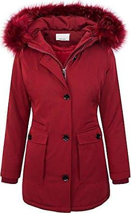 Elegante Damen Winterjacke lange Daunenjacke Schalkragen Damenjacke braun Jacke.