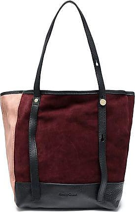 b8f61f2ea See By Chloé See By Chloé Woman Andy Leather-trimmed Color-block Suede Tote