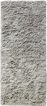 HAY Shaggy Teppich 80x200cm - warmgrau/handgewebt/reine Wolle
