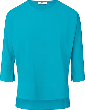Peter Hahn Round neck top 3/4-length sleeves Peter Hahn turquoise