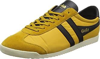 Gola Mens Bullet Nylon Low-Top Sneakers, Yellow (Sun/Black Yb), 9 UK ( 43 EU)