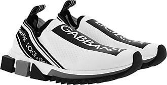 Dolce & Gabbana Sneakers - Sorrento Logo Sneaker White/Black - white - Sneakers for ladies