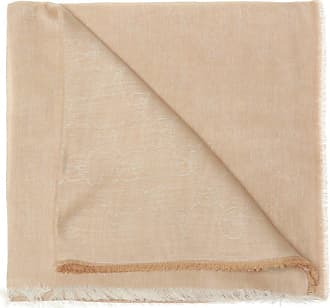 Moschino Scarf With Sewn-on Logo Mens Beige
