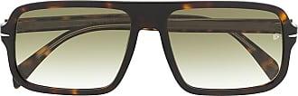 David Beckham Óculos de sol com efeito tartaruga - Marrom