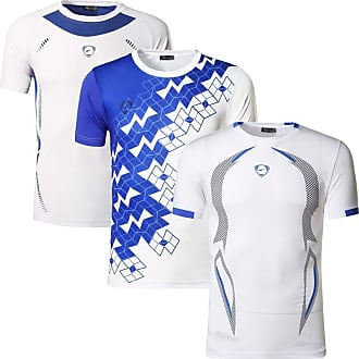Jeansian Mens 3 Packs Sport Slim Quick Dry Short Sleeves Compression T-Shirt Tee LSL111_187_3225 White XL