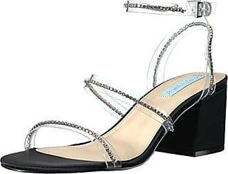Blue by Betsey Johnson Womens SB-SAMI Heeled Sandal, Black/Metallic, 7.5 M US