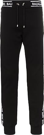 Balmain logo stripe track trousers - Black