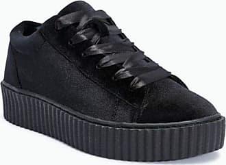 Truffle Cent 26 Black Velvet Creepers Ladies Vegan Shoes[Ladies UK 3 / EU 36]