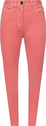 Balmain Jeans With Logo Womens Pink