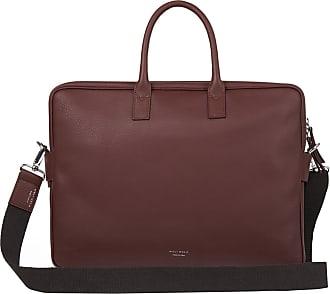 Meli Melo Meli Melo Briefcase in Argan Brown Leather for Men