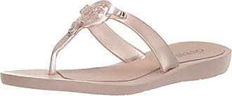 Guess Womens Tyana Flat Sandal Gold 7 M US
