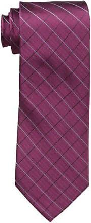 Calvin Klein Mens Etched Windowpane B Tie, Burgundy, Regular