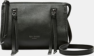 Ted Baker Tassel Zip Leather Bag in Black HENNEYY, Womens Accessories