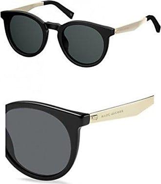 ced1ed1d9b Marc Jacobs Womens Marc204s Polarized Round Sunglasses, BLACK, 47 mm