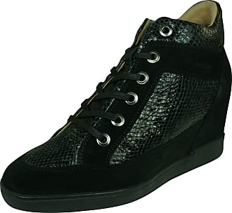 969a33f1b563 Geox Womens D Carum C Low-Top Sneakers Black C9999
