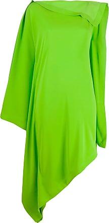 Maison Margiela Vestido assimétrico com drapeado - Verde