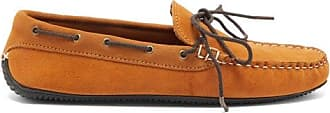 Quoddy Camp Driver Suede Loafers - Mens - Brown
