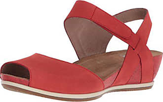 Dansko Womens Vera Flat Sandal, Tomato Milled Nubuck, 42 M EU (11.5-12 US)
