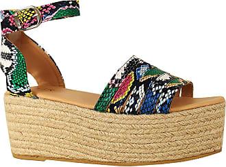 Yoki Womens Harmony Wedge Sandal, Multi Snake, 6.5 UK