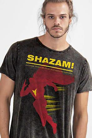 DC Comics Camiseta Shazam Name Oficial Masculina