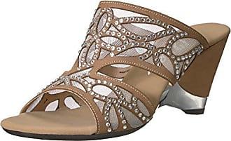 Onex Womens Megyn Wedge Sandal, Taupe, 11 M US