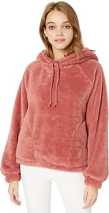 Billabong Womens Warm Regards Hoodie Hooded Sweatshirt Stone Rose Large