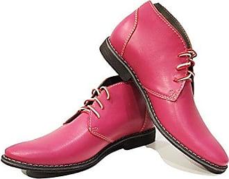 f323c177f32e61 PeppeShoes Modello Pinkuero - 45 - Handgemachtes Italienisch Bunte  Herrenschuhe Lederschuhe Herren Rosa Stiefeletten Chukka Stiefel