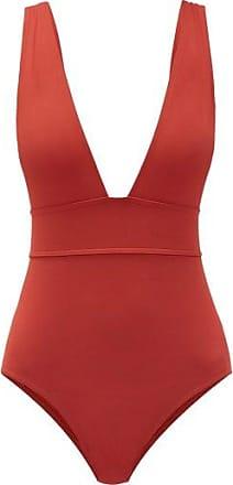 Eres Pigment V-neck Swimsuit - Womens - Red