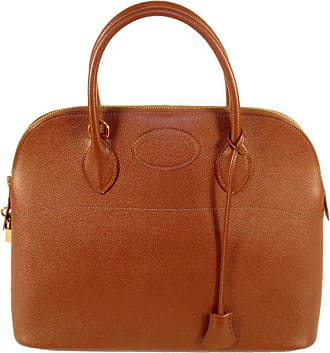 b5929264bb5 Hermès 1997 Hermes Cafe Brown Leather Bolide 35cm Zip Top Handle Bag W.  Lock