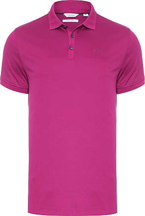 Calvin Klein POLO MASCULINA SOLID LIQUID INTERLOCK - ROXO