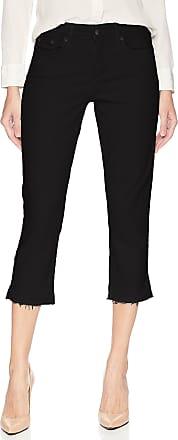 NYDJ Womens Capri with Released Hem Jeans, Black, 2