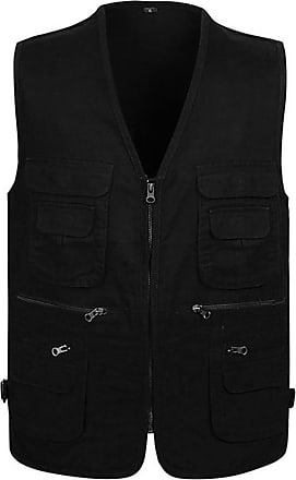 Vdual Men Outdoor Breathable Zip Vest Multi Pockets Waistcoat Fishing Working Camping Traveling Photography Any Adventure Jacket Gilet Gilet Black