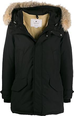 Woolrich hooded mid-length parka - BLK BLACK