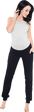 Purpless Maternity Pregnancy Joggers Under Bump Belly Support Comfortable Trousers for Pregnant Women 1314 (18, Black)