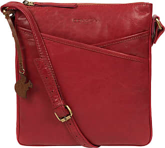 Pure Luxuries London Concka London Avril Womens 24cm Biodegradable Leather Cross Body Bag with Zip Over Top, 100% Cotton Lining and Adjustable Slimline Leather Strap in Ch