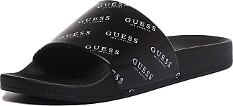 Guess Ciabatta Sandals in Black and White (44 EU, Black White)